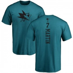 Youth Paul Martin San Jose Sharks One Color Backer T-Shirt - Teal